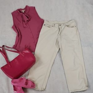RALPH LAUREN PURSE & PANTS COMBO SIZE 10